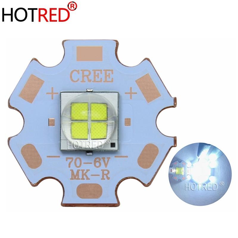 1 Uds 7070 20W 6V 12V Led reemplazar Cree XLamp XHP70.2 XHP50.2 LED emisor bien White6500K azul LED de luz de la viruta con 20mm Cooper PCB
