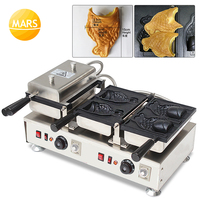 Mars Commercial 110V 220V 4pcs Fish Shape Automatic Electric Ice Cream Taiyaki Machine Maker Pan With Open Mouth|Waffle Makers|Home Appliances -