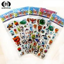 5pcs Children Design 3D Puffy Bubble Cartoon warrior car Stickers Fruits Animal Kids Boy cartoon anime stickers