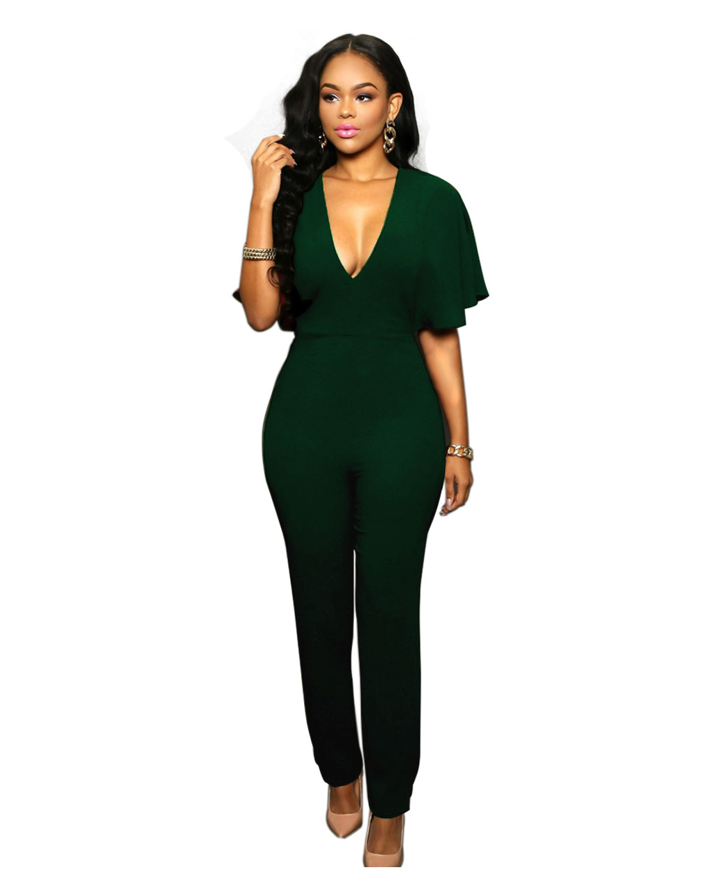 Fashion women's wear loose cultivate one's morality leisure jumpsuits zipper hot style