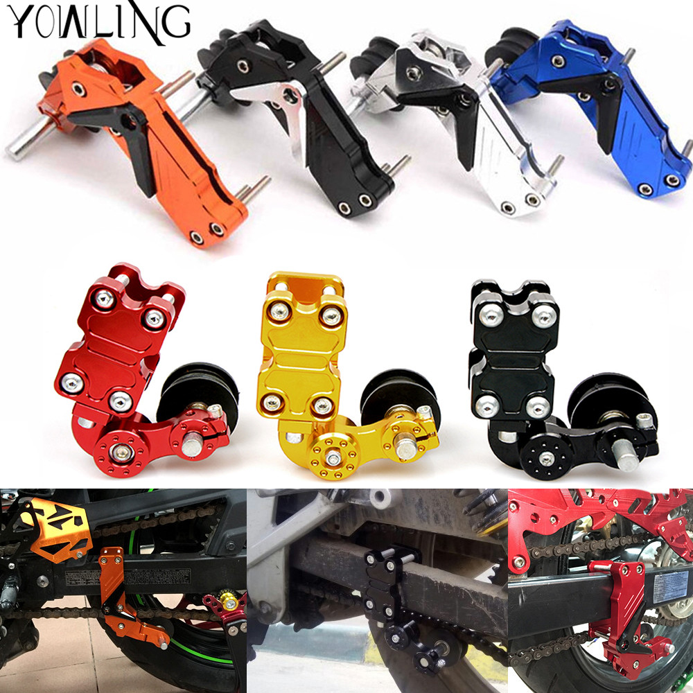 Motorcycle refires pieces motorcycle chain auto tensioner rubber chain tensioner Aluminum for honda yamaha kawasaki ktm ducati