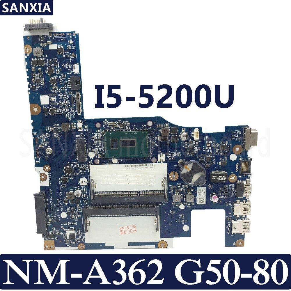 KEFU ACLU3/ACLU4 UMA NM-A362 Laptop motherboard for Lenovo G50-80 Test original mainboard I5-5200UKEFU ACLU3/ACLU4 UMA NM-A362 Laptop motherboard for Lenovo G50-80 Test original mainboard I5-5200U