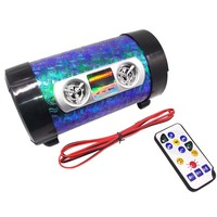 4-inch Motorcycle Speaker with Bass Scooter Speakers Stereo Amplifier Motorbike Audio System AUX TF Card USB FM Radio AVT Moto