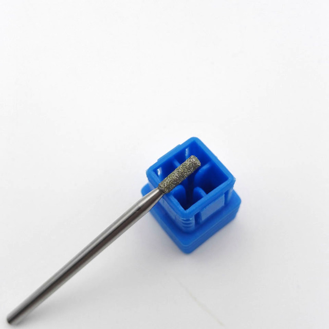 Cylinder Shaped Stainless Steel Nail Drill with Diamond Coating