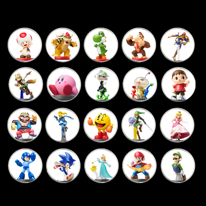 Fast Shipping 20Pcs/lot Mario Kart 8 Game For <font><b>Amiibo</b></font> <font><b>Card</b></font> Collection Coin Ntag215 NFC Printed Sticker Tag NS Switch WiiU image