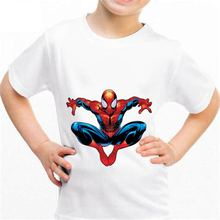 2018 Spiderman number b017 Kingdom Funny T-shirt Kids Baby Summer Cute Clothes Boys Girls Tops Spiderman number T shirt(China)