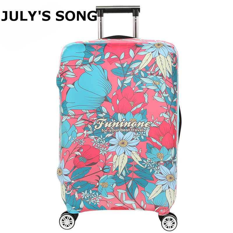 LAVOVO Colorful Wooden Planks Luggage Cover Suitcase Protector Carry On Covers