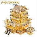 Piececool DIY 3D Головоломка Игрушка Металла, TengWang Pavilion P067-G Puzzle 3D Модели Здания, образовательные и Обучающие Игрушки Для Детей