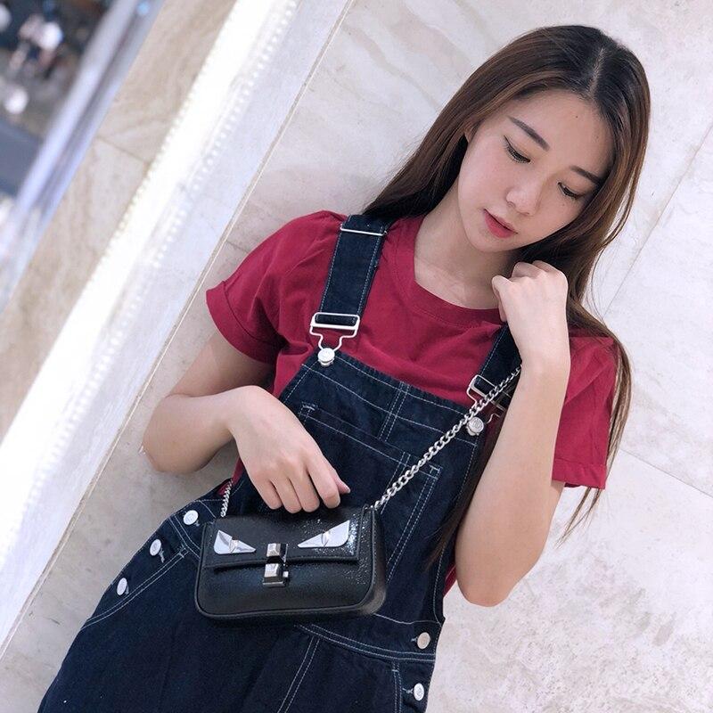 New female chain bag small monster shoulder Messenger bag mini fashion 2