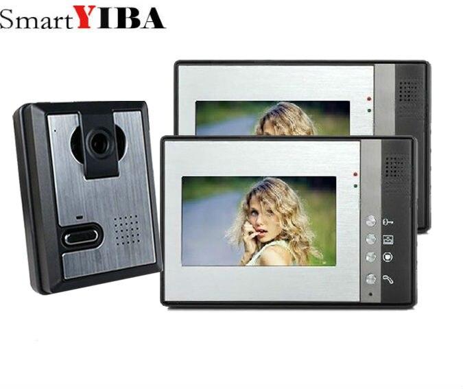 """SmartYIBA 7"""" Audio Intercom TFT LCD Wired Video Door Phone Visual Home Video Intercom Outdoor Door bell doorbell"""