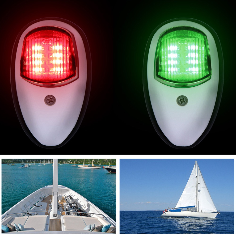2pcs boat navigation light underwater light signal light - What side is port and starboard on a boat ...