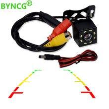 BYNCG 8 LED visione notturna telecamera retrovisiva per auto immagine grandangolare HD a colori telecamera di parcheggio retromarcia impermeabile universale di Backup