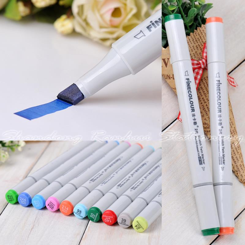 ФОТО 36/48/60/72 P Colors Architectural Design Marker Pen Finecolour-Two commonly used Sketch marker copic markers