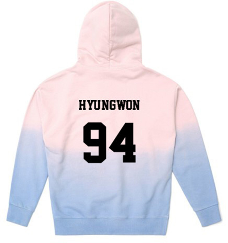 MONSTA X même section sweat à capuche hommes et femmes printemps et été manteaux devraient être aidés kpop hoodies