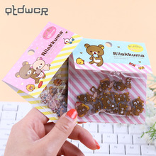 80PCS/lot DIY Kawaii Transparent PVC Stickers Lovely Rilakkuma Sticker Pack for Home Decor Stationery Sticker Office Supplies
