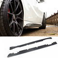 For Benz A Class W176 Carbon Fiber Side Skirt Body Kit Apron Fit For Benz A250 A45 AMG Bumper 2014 2015 2016