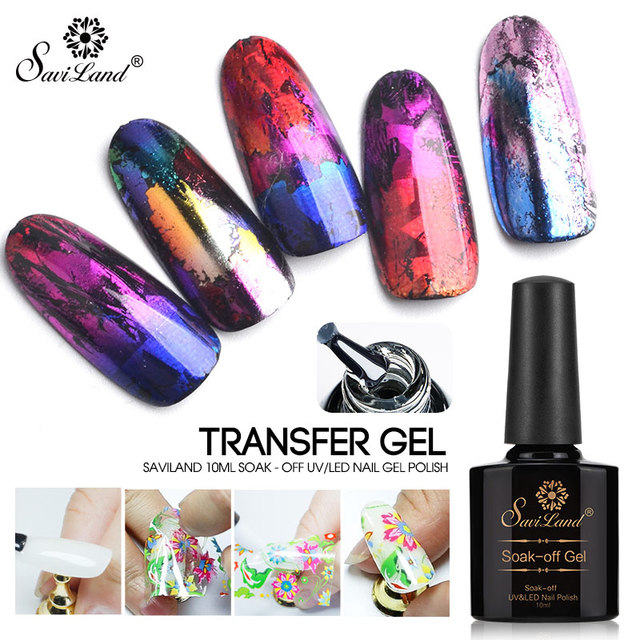 Saviland 10ml Star Starry Sky Nail Foils Manicure Nail Art Glue Clear Adhesive Star Glue For Nail Foils Transfer nail gel Polish