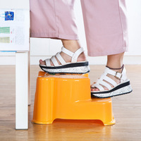 Cute Cartoon Baby Stair Stool Bathroom Plastic Anti Skid Stools Children S Bench Stool