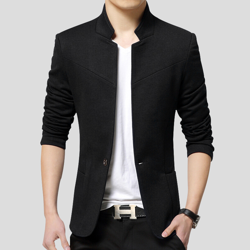 пиджак мужской  блейзер новый воротник стойка повседневное человек  мужской 3XL 4XL 5XL 6XL плюс размеры куртка мужская