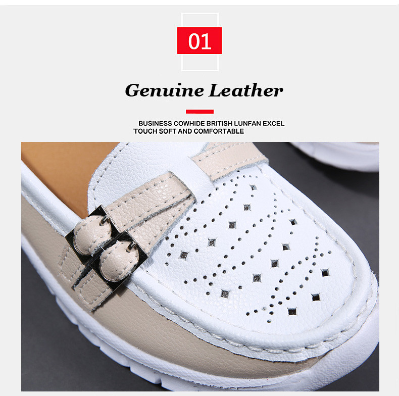 Spring Women Shoes Genuine Leather Handmade Flats Casual Shoes Woman Slip-on Loafers Ballet Flats Ladies Shoes Slipony (2)