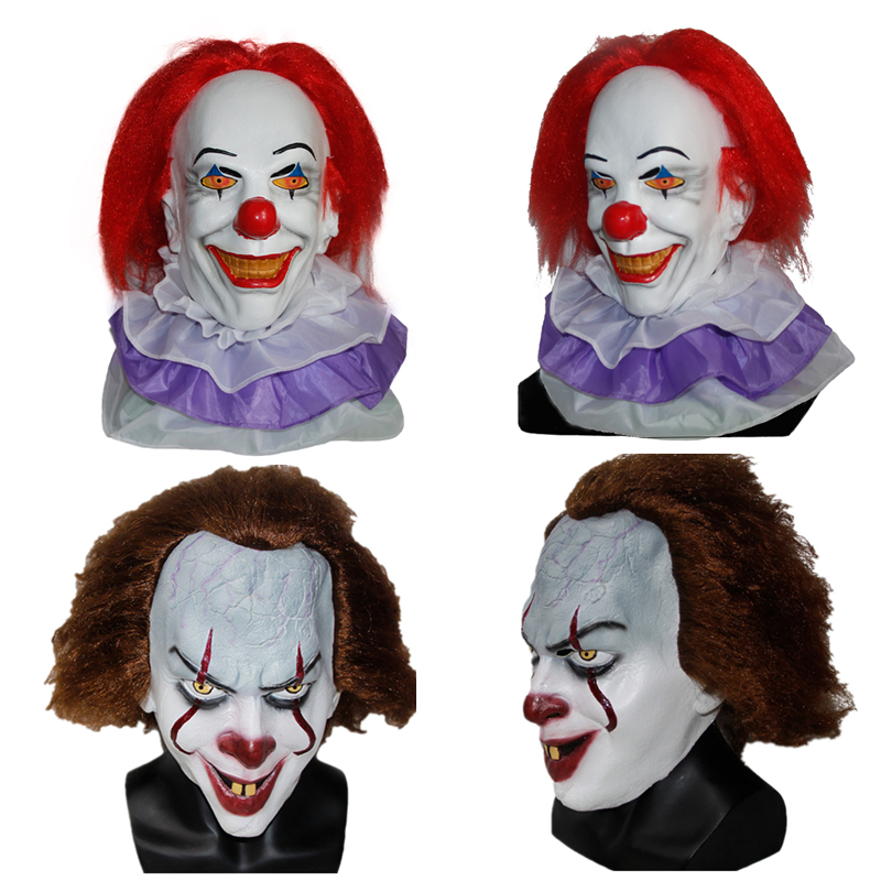 X MERRY TOY Pennywise Clown Mask 2017 New Movie It Masks Classic Scary Clown Masken