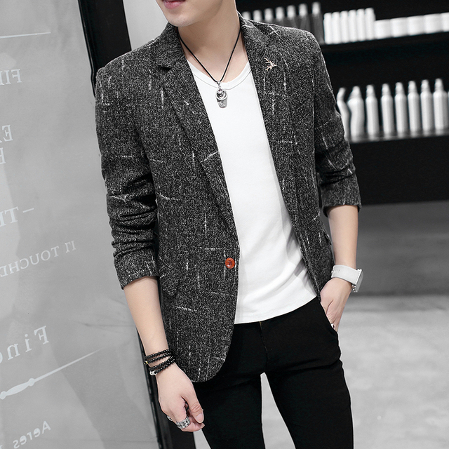 86499726170 2018 spring burst models new men s slim small suit jacket casual male jacket -in Suit Jackets from Men s Clothing on Aliexpress.com