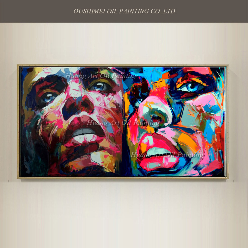 Hand painted popular modern painting knife head portrait for Hand painted portraits from photos