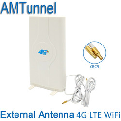 4G LTE External Panel Antenna 700-2600MHz MIMO antenna 3g 4g router antenna CRC9/TS9/SMA Connector for Huawei ZTE modem routers