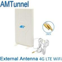 4 г LTE внешний Панель антенна 700-2600 мГц антенны CRC9/TS9/SMA разъем 3 г 4 г маршрутизатор Антенна для huawei или zte модем маршрутизатор