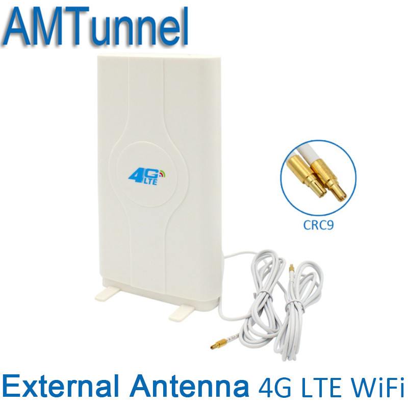 4G LTE External Panel Antenna 700-2600MHz antenna CRC9/TS9/SMA Connector 3g 4g router antenna for Huawei or ZTE modem router