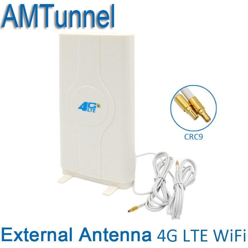 4G LTE externa Antena de Panel 700-2600 MHz antena CRC9/TS9/SMA conector 3G 4G router para Huawei o ZTE router de módem