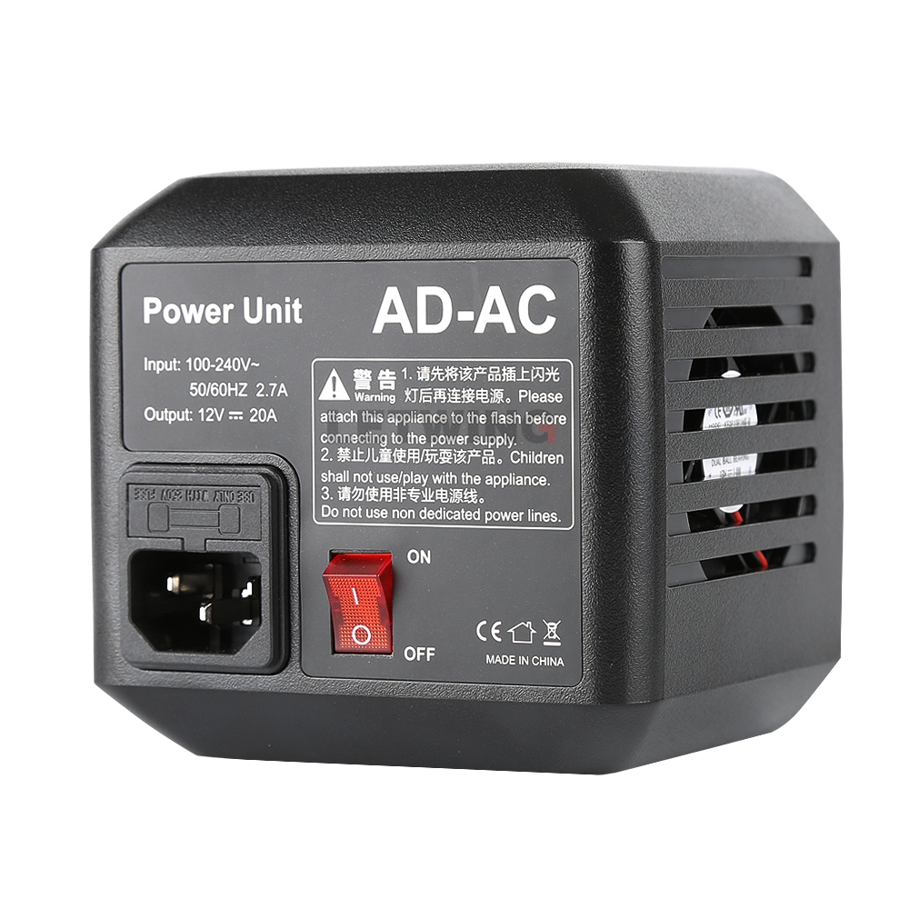 Godox AD-AC AC Power Source Adapter with Cable for AD600B AD600BM AD600M AD600