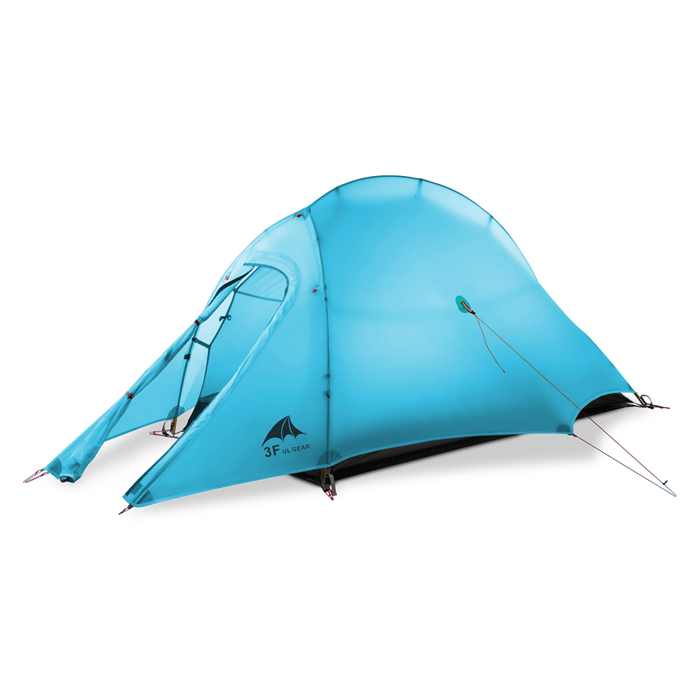 3F UL GEAR Oudoor ultra-léger Camping tente 4 saison 1 personne seule professionnelle 15D Nylon silicone randonnée barraca de acampamento