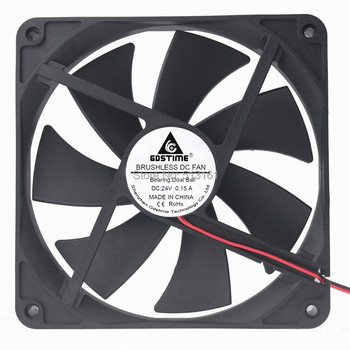 10Pcs/Lot Gdstime 140MM DC 24V 2Pin Ball Bearing 140x140x25mm 14cm PC Computer Case Cooling Fan