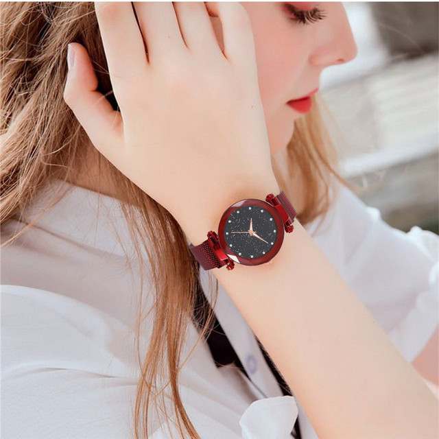 Hot Sale Starry Sky Watch Women's Luxury Magical Adjustable Band Stainless Steel