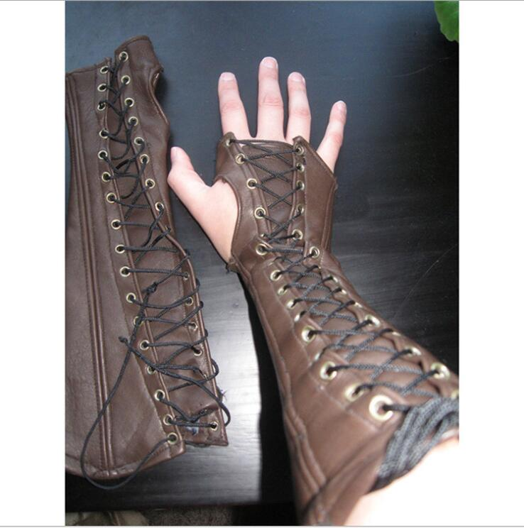 Medieval Armor Gloves Wristband Gauntlet Steampunk Warrior Knights Templar Bracers Renaissance