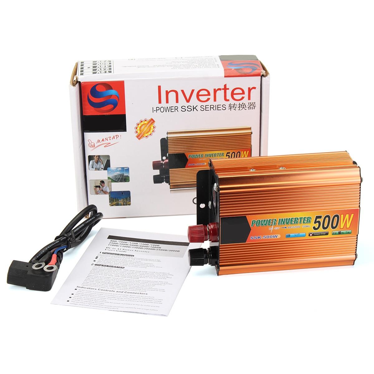 цена на 500W Car Truck Battery Power Inverter DC 48V To AC 220V + USB Converter Invertor