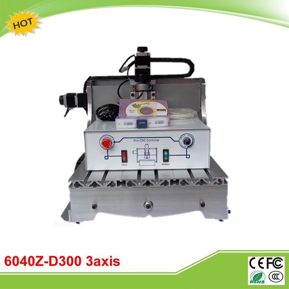 6040Z-D300 3axis mini CNC milling machine lathe ball screw 300W spindle free tax to RU no tax to eu 6040 z d300 4axis 110v 220v cnc milling machine cnc router usb adpter