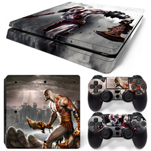New Vinyl Decal PS4 Slim Skin Stickers Cover Protector Wrap For Sony PlayStation 4 Slim Console And 2 Controller Skins