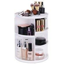 360 Rotating Makeup Organizer, DIY Detachable Spinning Holder Storage Bag Case Large Capacity Caddy Shelf Acrylic