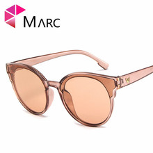 MARC Fashion round frame Korean street shot sunglasses Mirror wholesale trend big box ocean piece Cat