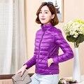 Women Winter Jacket 2016 New 90% White Duck Down Jackets Portable Stand Collar Slim Down Coat Plus Size Down Parkas S-XXXL