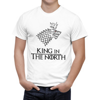 Game Of Thrones Wolf T Shirt Stark Winterfell Cotton Tee Shirt Winter Is Coming Casual Streetwear