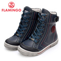 FLAMINGO 100% Russian Famous Brand 2015 New Arrival Spring & Autumn children Fashion High Quality Leather  Boots FB31730