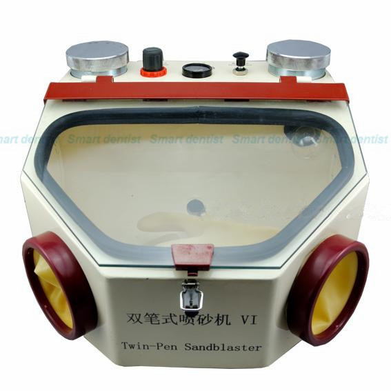 Фото 2016 NEW High Quality 220V Sandblaster Machine For Jewelry Dental Lab Sandblaster Sand Blaster