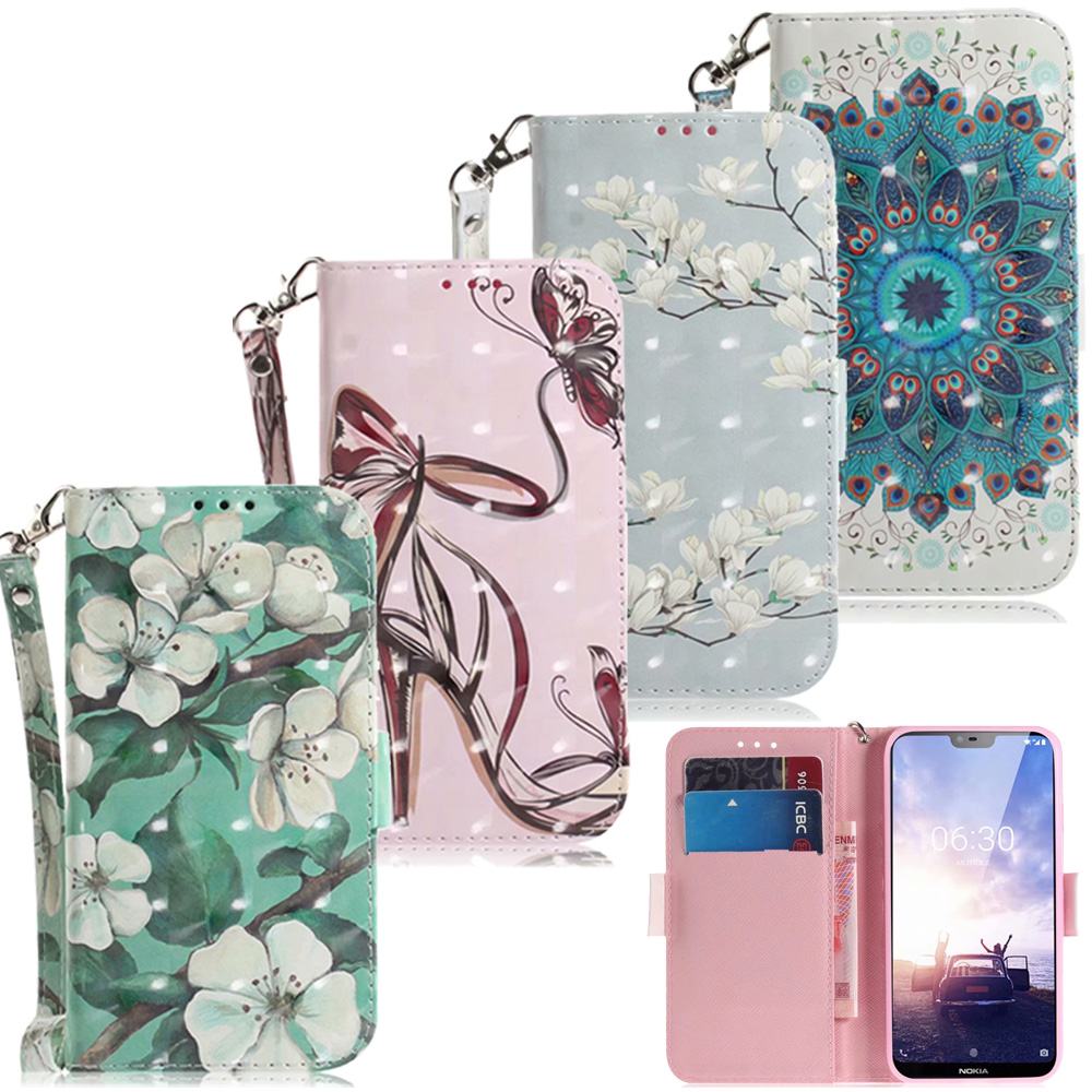 3D Flower <font><b>Leather</b></font> Wallet For <font><b>Nokia</b></font> 3.1 5.1 <font><b>6.1</b></font> 7.1 8.1 X5 X6 X7 <font><b>Cases</b></font> Phone Bag <font><b>Nokia</b></font> 1 7 Plus 3.2 4.2 <font><b>Nokia</b></font> 5 6 Cover <font><b>Flip</b></font> <font><b>Case</b></font> image