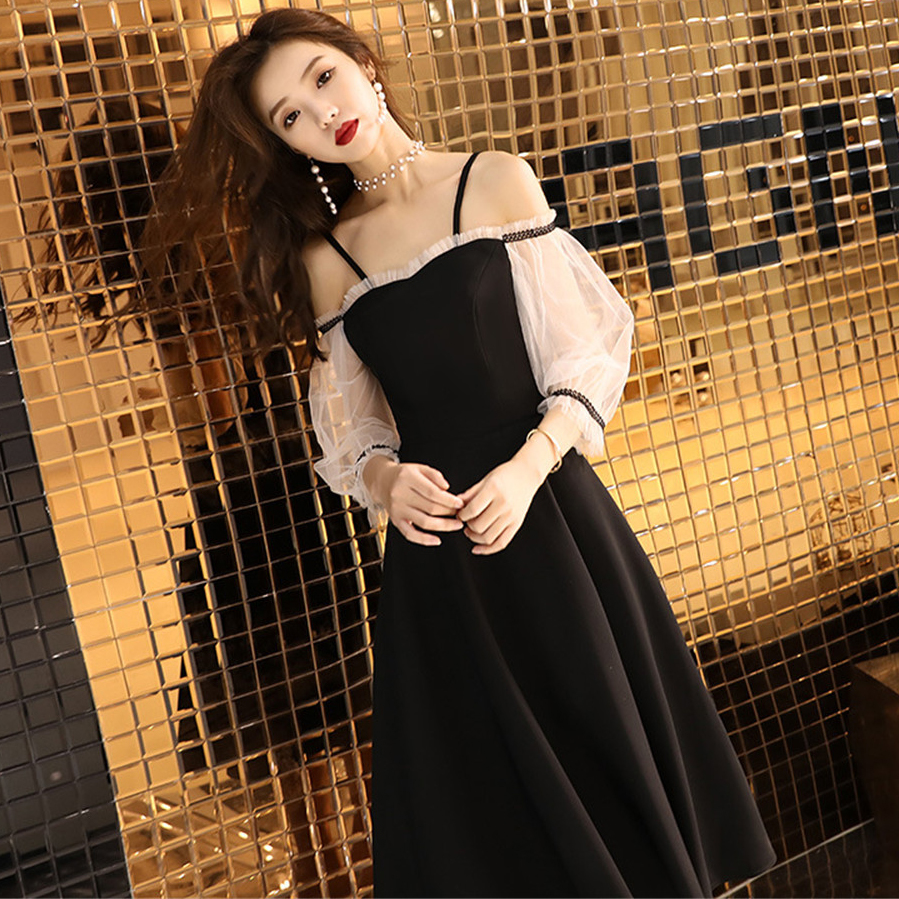 Elegant Formal Party Long Dress Pleated Spaghetti Strap Qipao Off Shoulder Vestidos Exquisite Lace Sleeve Night Club Gowns