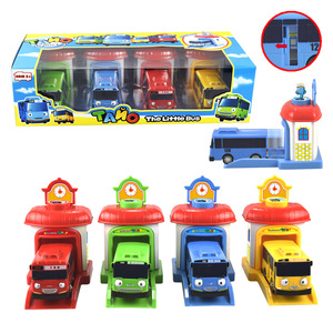 4pcs/set Scale model Tayo the little bus miniature bus baby oyuncak garage tayo bus car vehicle Funny Toys For kids Children(China)