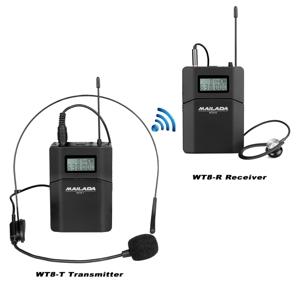 MAILADA WT8 Tour Guide System 1 Microphone + 1 Transmitter + 1 Receiver for Teaching Travel Simultaneous Interpretation F1434 недорго, оригинальная цена