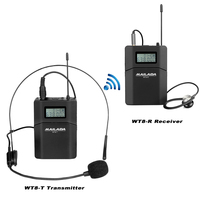 MAILADA WT8 Tour Guide System 1 Microphone + 1 Transmitter + 1 Receiver for Teaching Travel Simultaneous Interpretation F1434